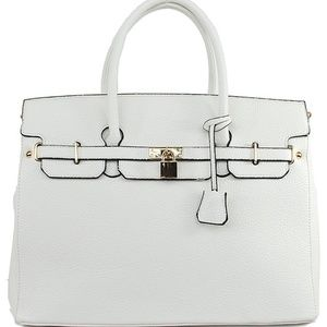 Handbags - White Fashion Inspired Tote Bag Faux Leather